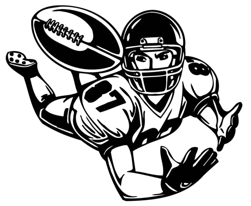 Receiver clipart football player Football Soccer Collection Football player