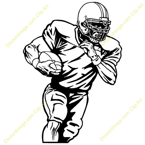 Receiver clipart football player Player Clip Collection  Drawing