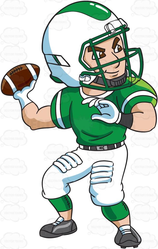 Receiver clipart football quarterback #vectortoons passing A a #clipart