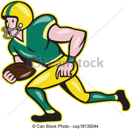 Receiver clipart rugby player Of Football American  American
