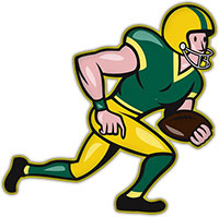 Receiver clipart football running back #15