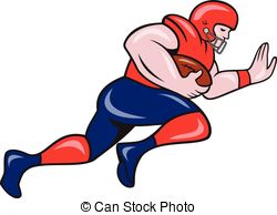 Receiver clipart football running back 357  Charging Stock 1