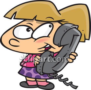 Receiver clipart kid Phoning conversations talks children telephone