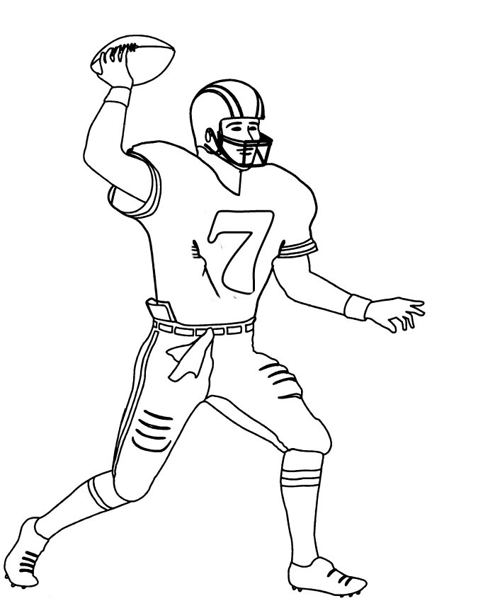 Receiver clipart nfl player Receiver Coloring Football  Number
