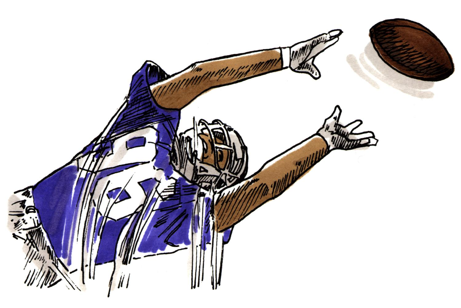 Sketch clipart football Clipart clip Receiver player football