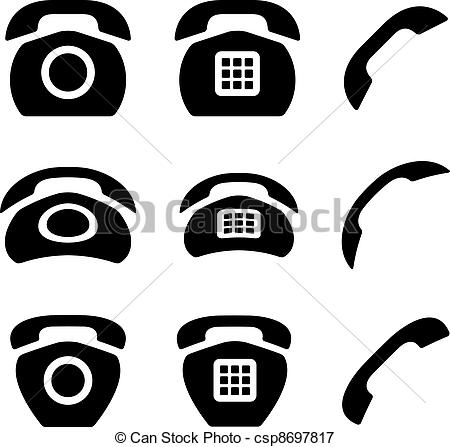 Receiver clipart old phone Vector phone vector Art and