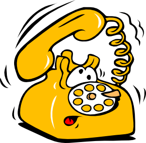 Phone clipart animated #1