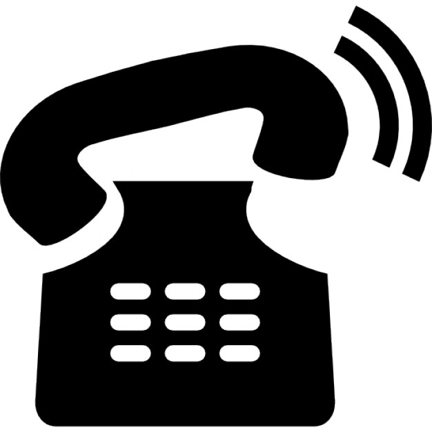 Receiver clipart phone ringing Free Telephone PSD ringing Vectors