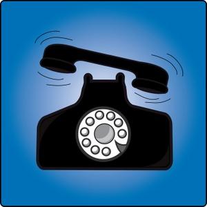Receiver clipart phone ringing Art phone Handset ringing clip