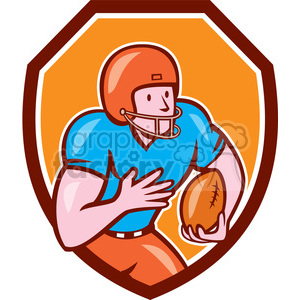 Receiver clipart rugby player  Art football american clipart