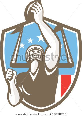 Receiver clipart rugby player Gridiron stripes with american receiver