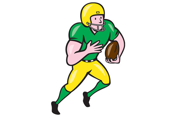 Receiver clipart rugby player Running Football American B Receiver