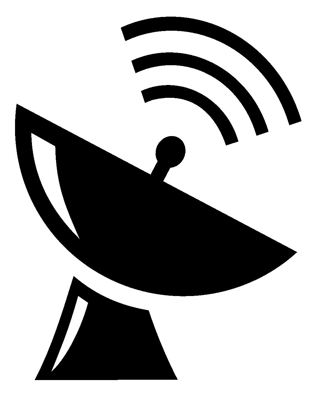 Receiver clipart satellite dish Art duper  SVG Satellite