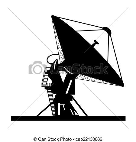 Receiver clipart satellite dish Of vector  dish Satellite