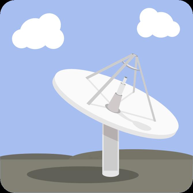 Receiver clipart satellite dish Satellite Base MEDIUM Dish Station