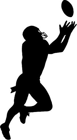 Receiver clipart silhouette Home bedroom large Football Kitchen