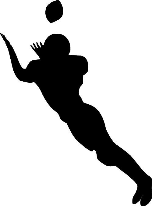 Receiver clipart old phone 17 Decal Football in Sports