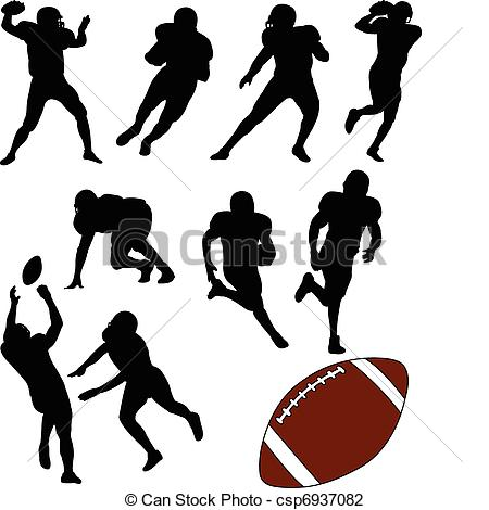 Receiver clipart silhouette Collection  of csp6937082 American