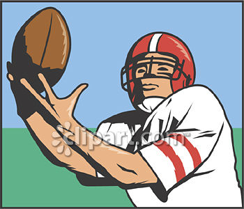 Receiver clipart sport player Catching framed athlete  football