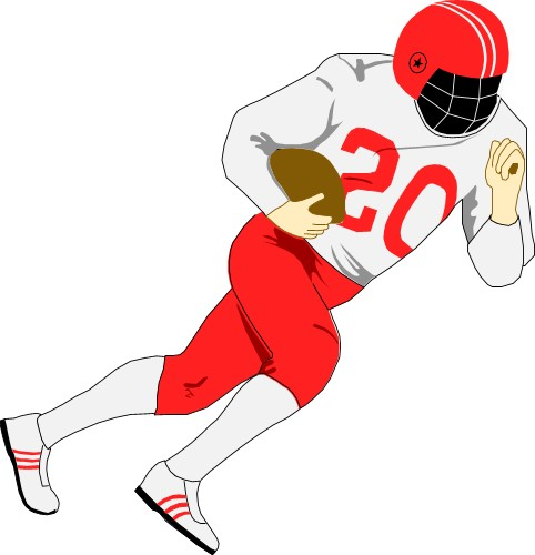 Receiver clipart sport player Clipart animated Football collection com