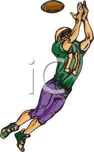 Receiver clipart sport player For Receiver Ball A the