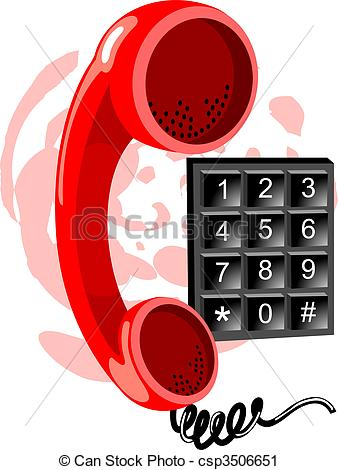 Telephone clipart phone number #12