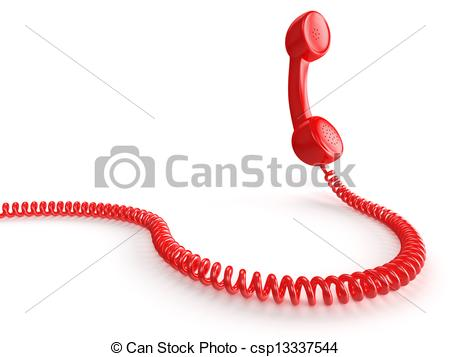 Receiver clipart telephone wire Receiver (38+) red art Clipart