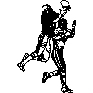 Receiver clipart touchdown Offense Sports sports football Cadworxlive
