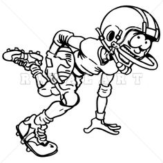 Receiver clipart youth football Black  Image White of