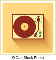 Record Player clipart  and 13 Stock Retro
