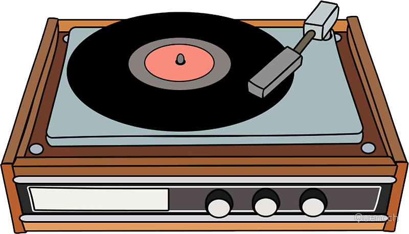 Record Player clipart disc jockey Redbubble Player: Stickers  Record