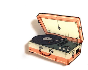 Record Player clipart 50's #4