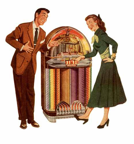 Record Player clipart 50's #6