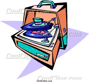 Record Player clipart 50's #10