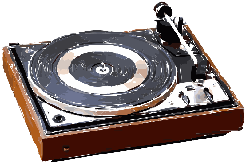 Record Player clipart 50's #3