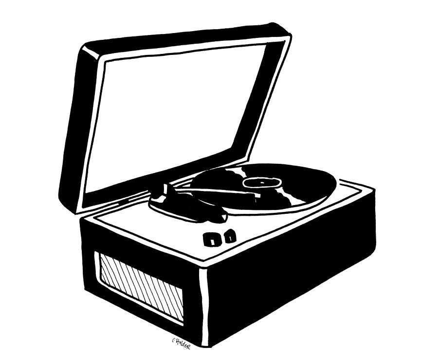 Record Player clipart black and white Record Candace Record Drawing Stalder