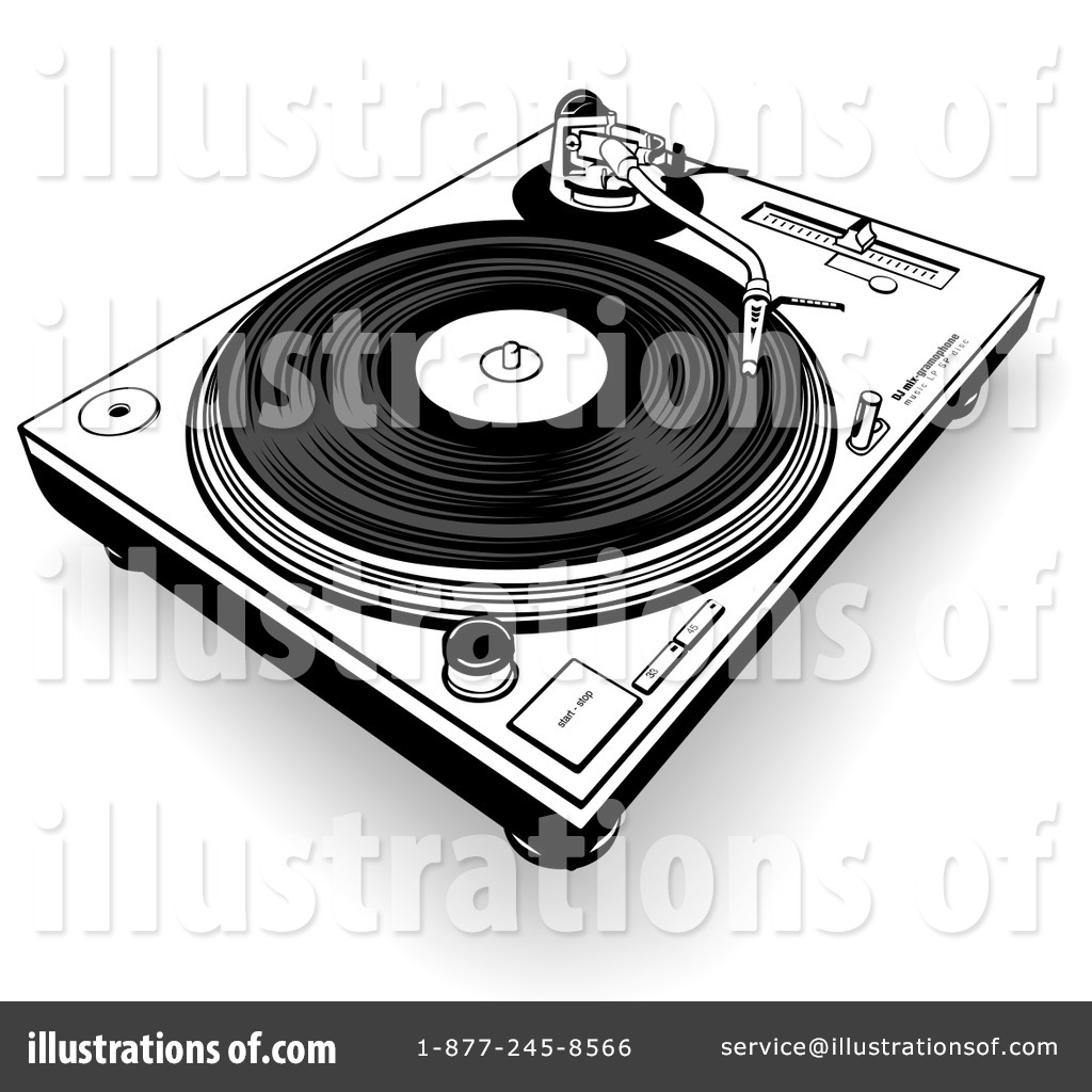Record Player clipart black and white Royalty Clipart by Record #35713