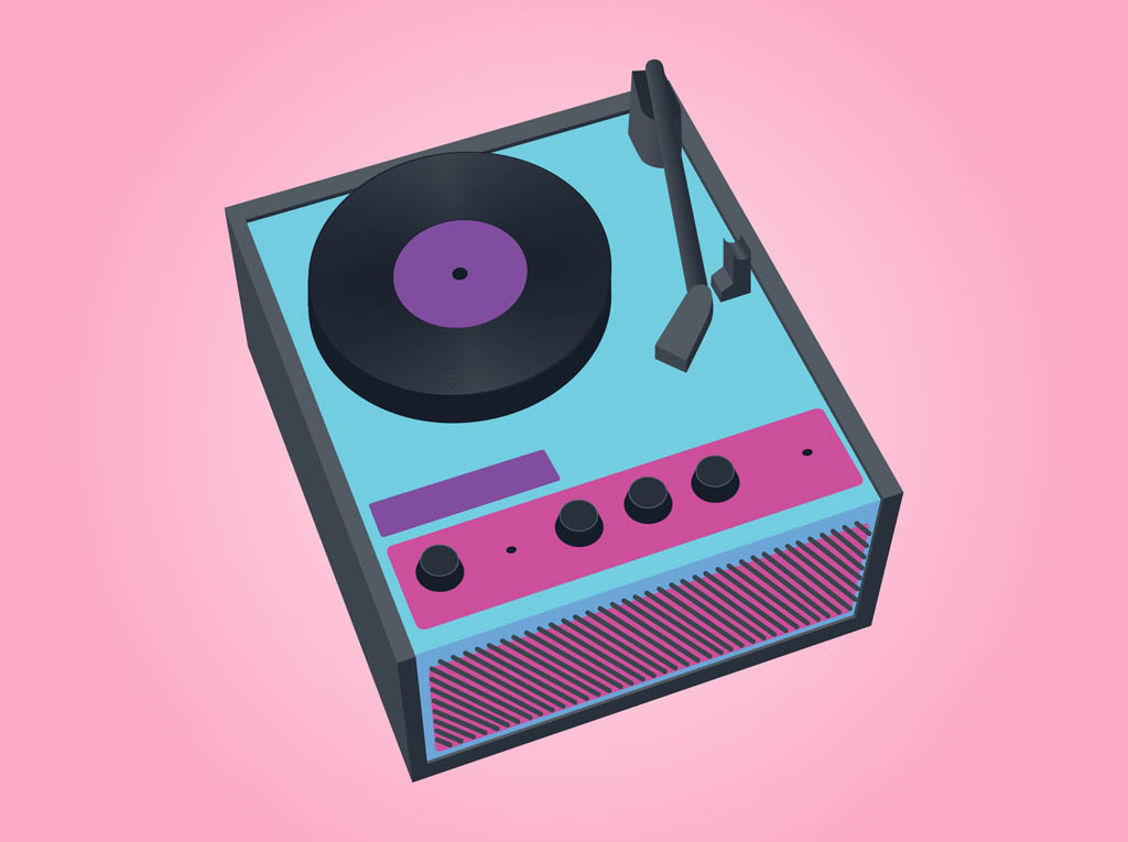 Record Player clipart cartoon Clip Free Free Clip on