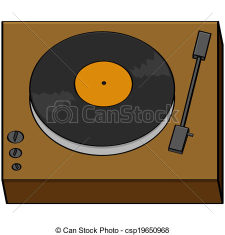Record Player clipart cartoon Turntable of illustration of old