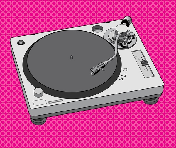 Record Player clipart dj equipment Images Design download free vector