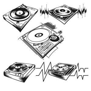 Record Player clipart dj turntable Player Cut Record Download Turntable