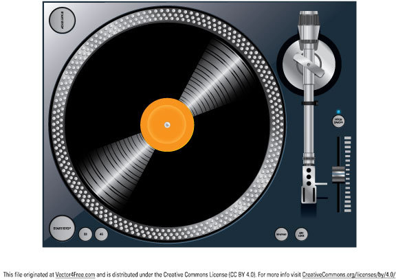Record Player clipart dj turntable Free · Turntables decks turntable