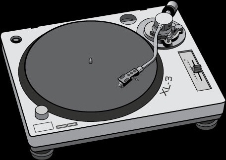 Record Player clipart dj turntable Vector vector Turntable vector (44