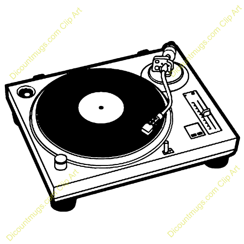 Record Player clipart dj turntable Turntable clipart clipart