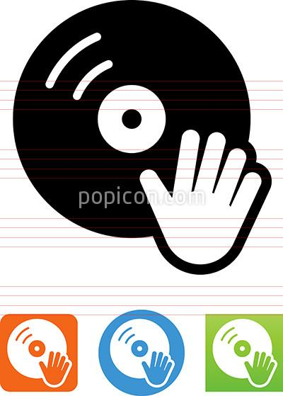 Record Player clipart dj turntable Popicon Icon Illustration Hand Player