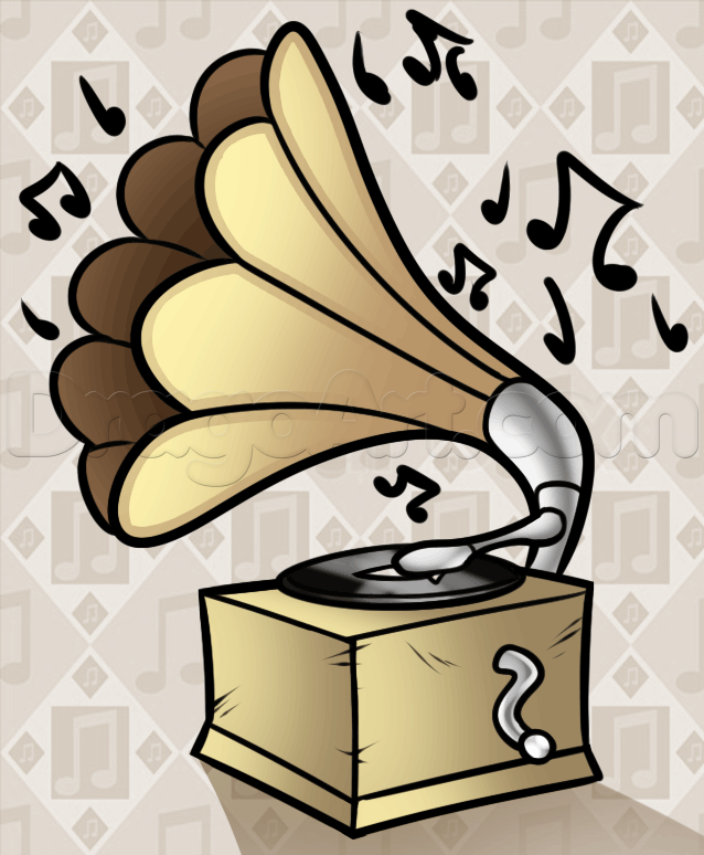 Record Player clipart horn  by Pop Music phonograph