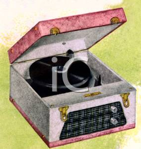 Record Player clipart old fashioned #8