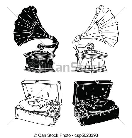 Record Player clipart old fashioned #2