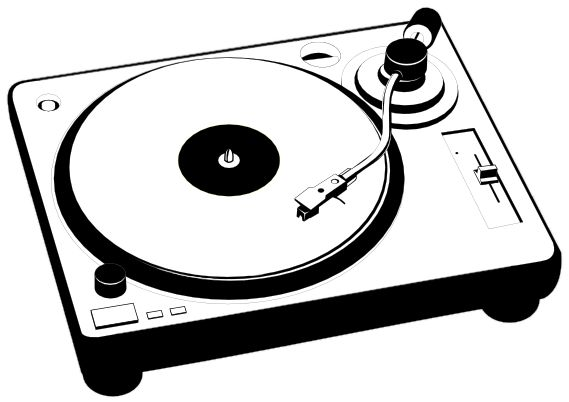 Record Player clipart old school #3