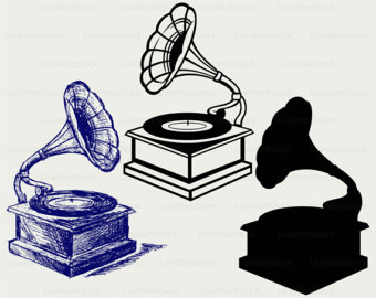 Record Player clipart old school #7